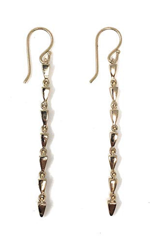 Melinda Maria Mini Pyramid Drop Earrings Gold E3456GLD