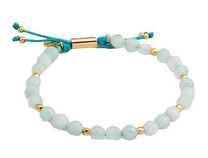 Gorjana Women's Aquamarine Truth Power Gemstone Beaded Bracelet