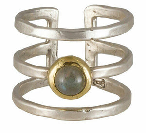 Waxing Poetic Women's Periphery Labradorite Triple Ring