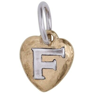 "Waxing Poetic Women's Heartswell Insignia Letter ""F"" Charm"