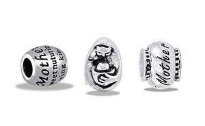 Davinci Beads Assortment of 3 Silver Mom Beads