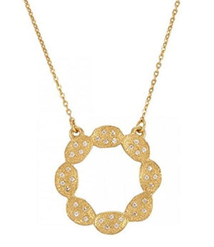 Melinda Maria Ashley Gold Necklace White CZ