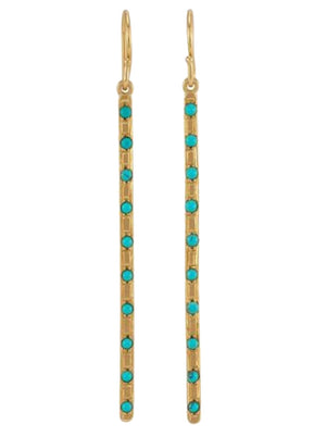 Melinda Maria Matchstick Earrings Gold Turquoise E3147GTQ