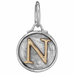 "Waxing Poetic Women's Chancery Insignia Letter ""N"" Charm"