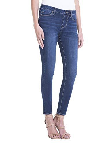 Liverpool Women's Jeans Piper Hugger Ankle Skinny 4-Way Stretch, Lynx, 6