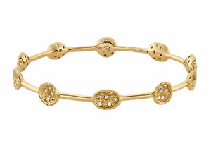 Melinda Maria Susan Mini Pod Pave Gold Bangle White CZ