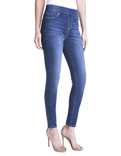 Liverpool Jeans Company Women's Sienna Pull-on Legging in 4-Way Stretch Denim Jean, Lynx wash, 12
