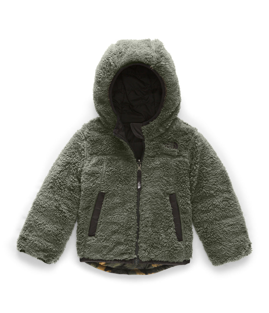 TODDLER BOY REVERSIBLE MOUNT CHIMBORAZO HOODIE British Khaki Mini Waxed Camo Print