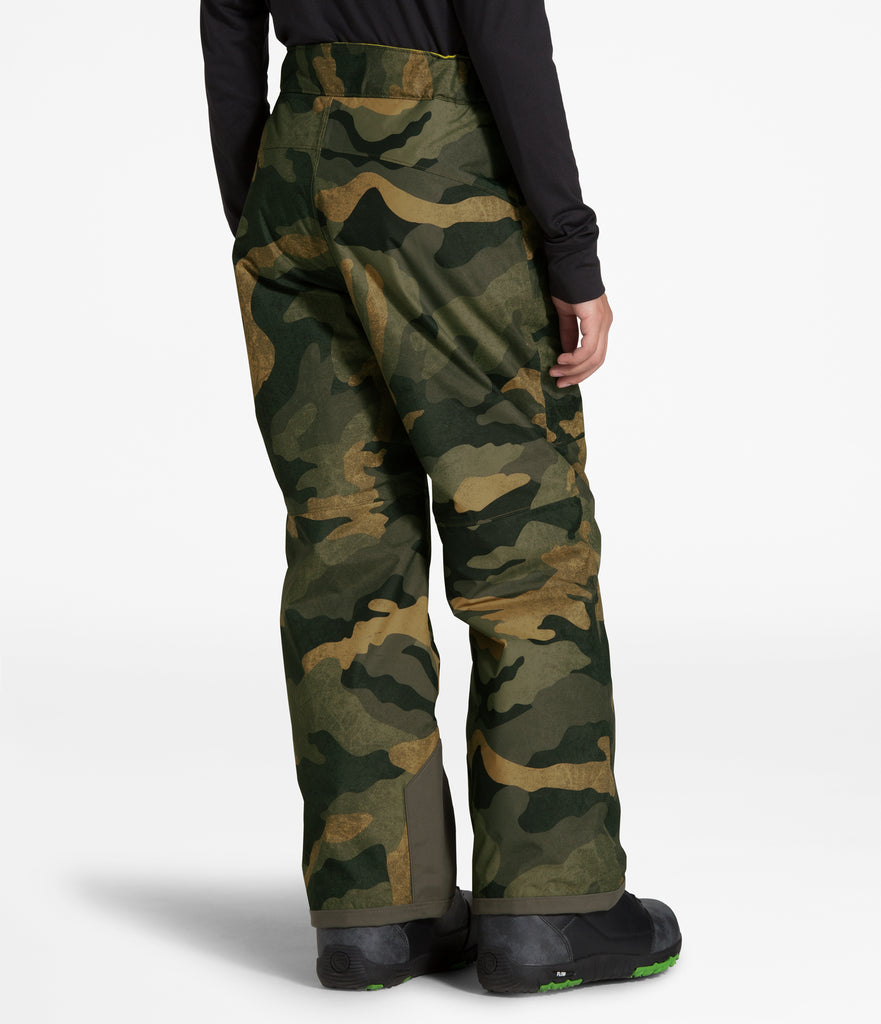 BOYS' FREEDOM INSULATED PANT British Khaki Waxed Camo Print