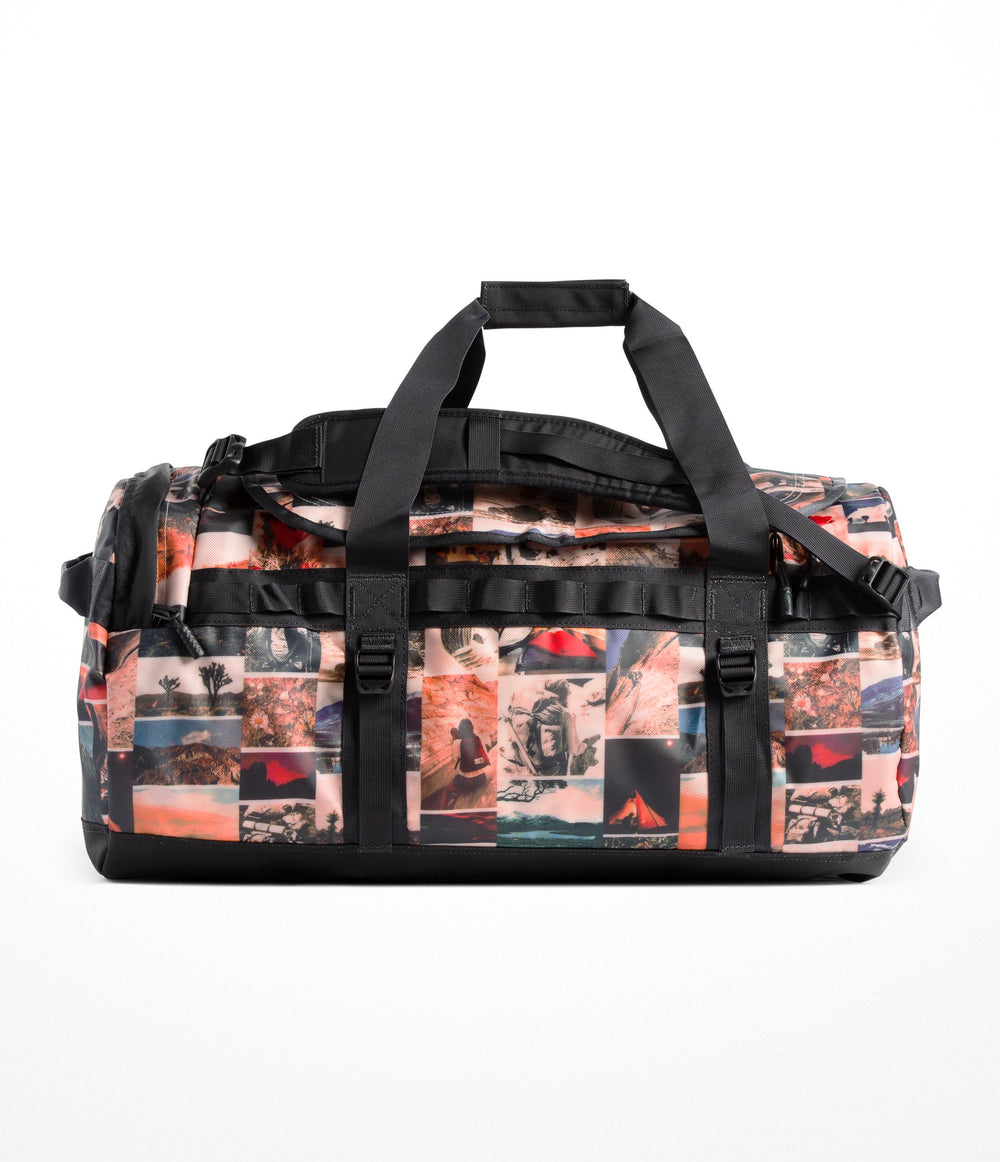 BASE CAMP DUFFEL - M Pink Salt Workbook Print/Weathered Black