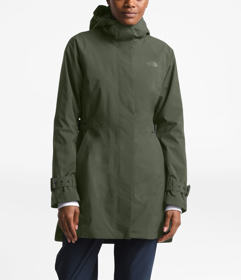 WOMEN'S CITY BREEZE RAIN TRENCH New Taupe Green
