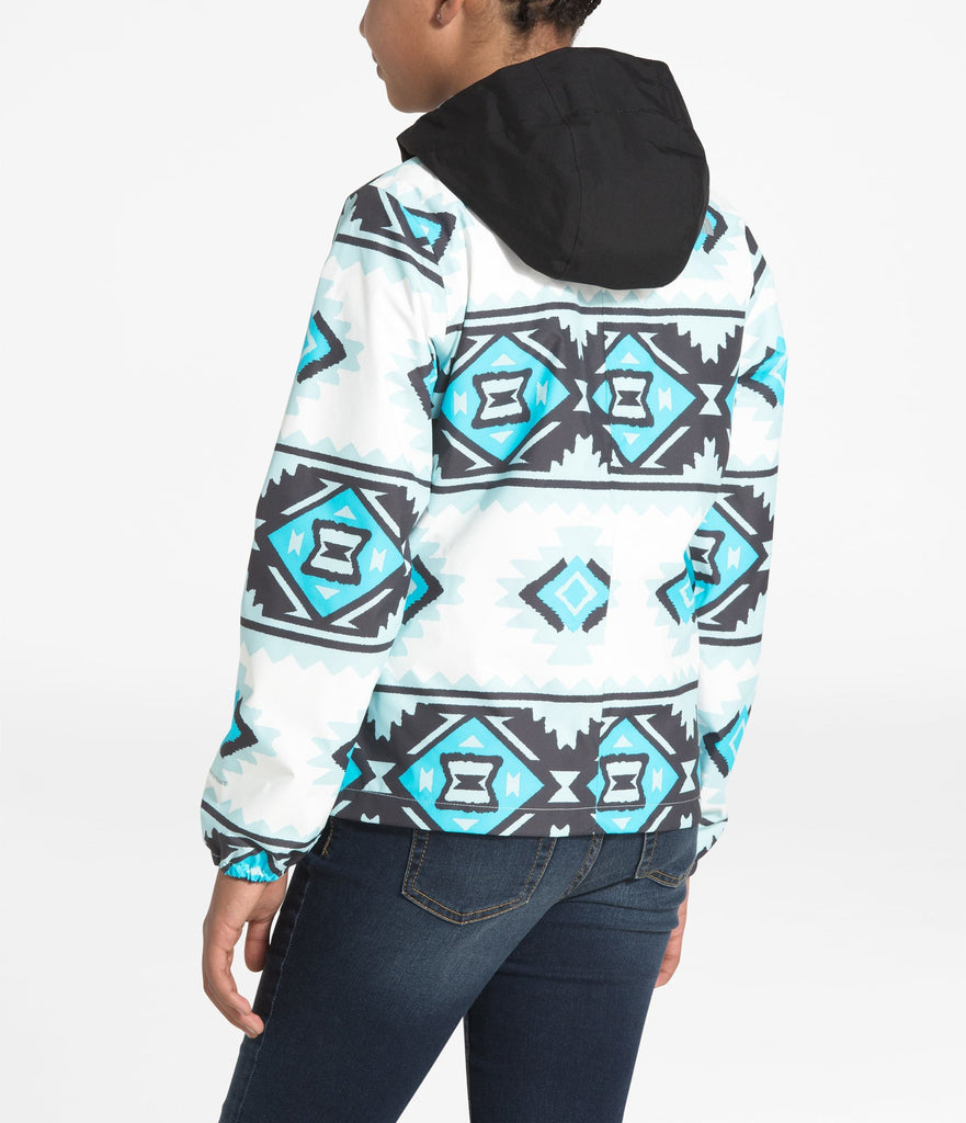 GIRLS' RESOLVE REFLECTIVE JACKET TNF White Tribal Geo Print