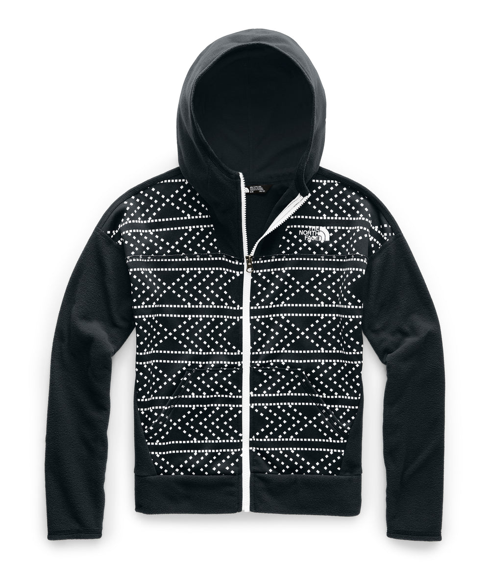 GIRL GLACIER FULL ZIP HOODIE TNF Black Diamond Print
