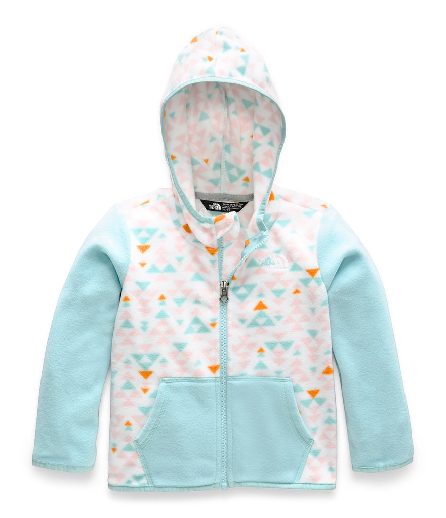 TODDLER GLACIER FULL ZIP HOODIE TNF White Mini Aztec Print