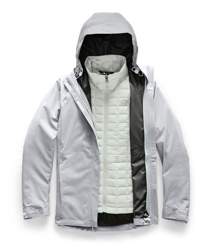 WOMEN'S THERMOBALL TRICLIMATE JACKET TNF Light Grey Heather