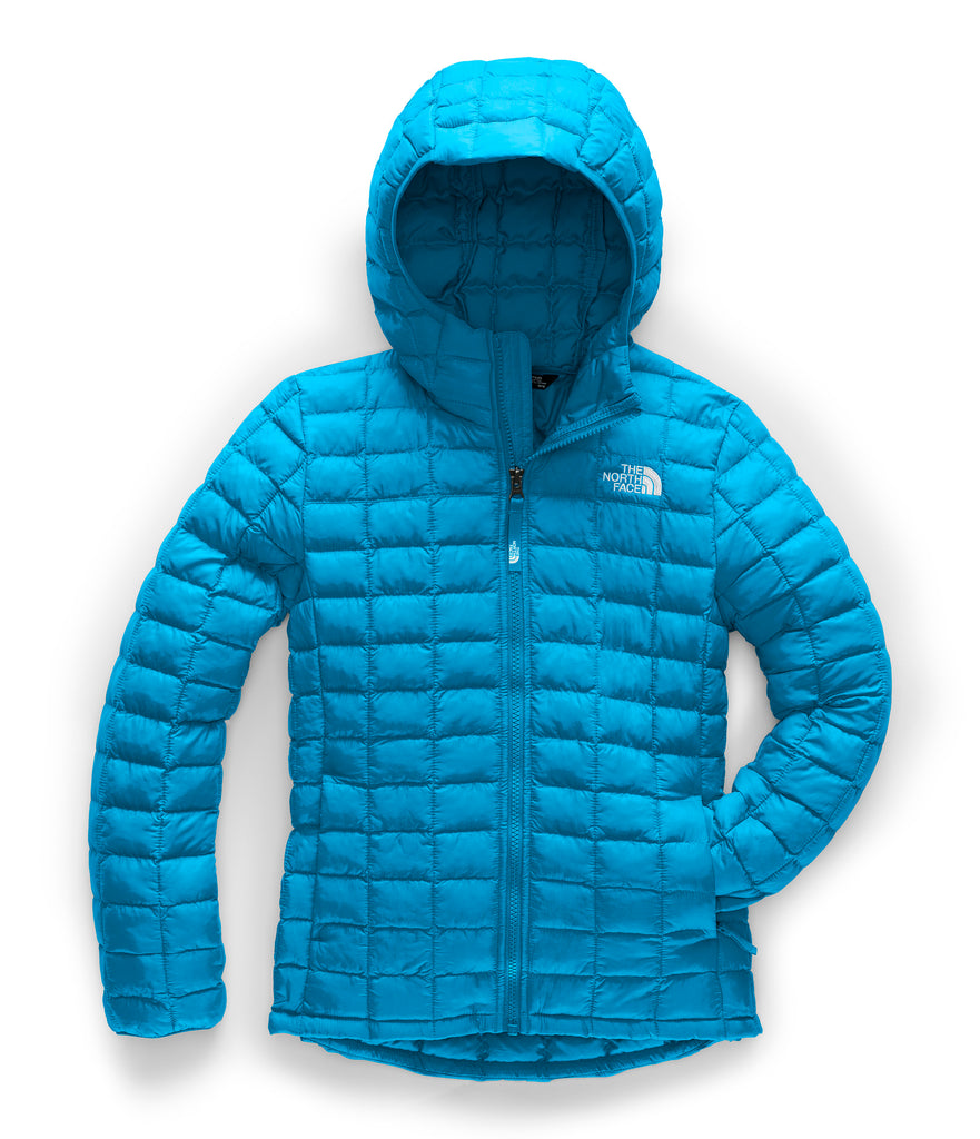 GIRLS' THERMOBALL ECO HOODIE Acoustic Blue