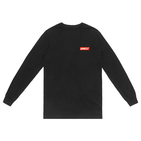 Long Sleeve Box Logo Black