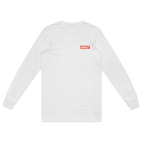 Long Sleeve Box Logo White