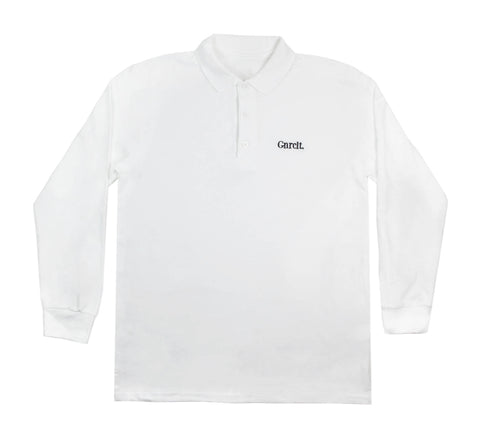 Long Sleeve White Polo