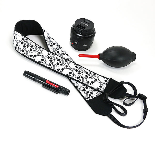 Camera Strap Skulls dslr, slr, mirrorless - ten8e Camera Straps