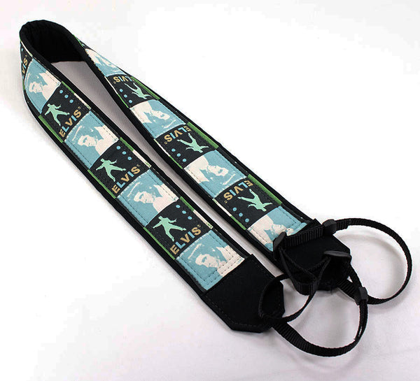 180 Camera Strap Blue Elvis - ten8e Camera Straps