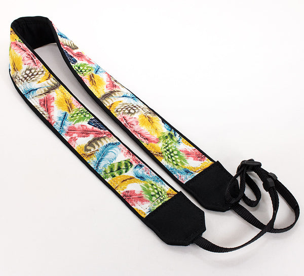153 Camera Strap Colorful Feathers - ten8e Camera Straps