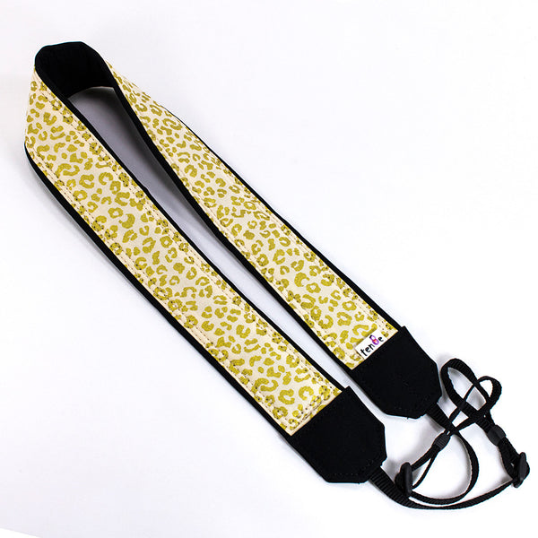 238 Camera Strap Gold Leopard - ten8e Camera Straps