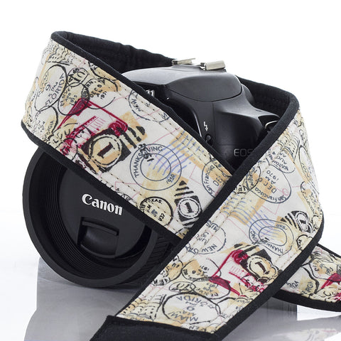 Postage Stamps Camera Strap - ten8e Camera Straps
