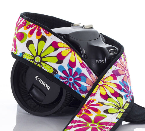 015 Flower Power Camera Strap - ten8e Camera Straps - 1