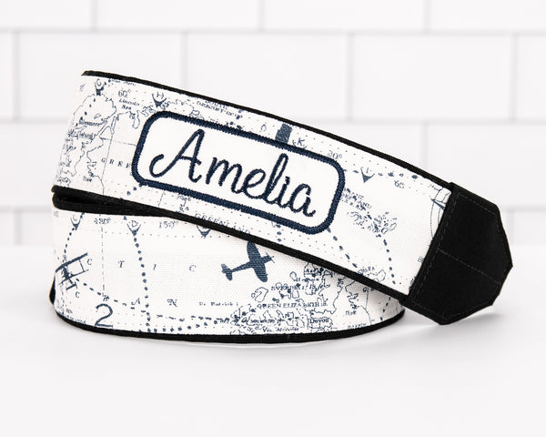 301 Camera Strap Airplane Map - ten8e Camera Straps