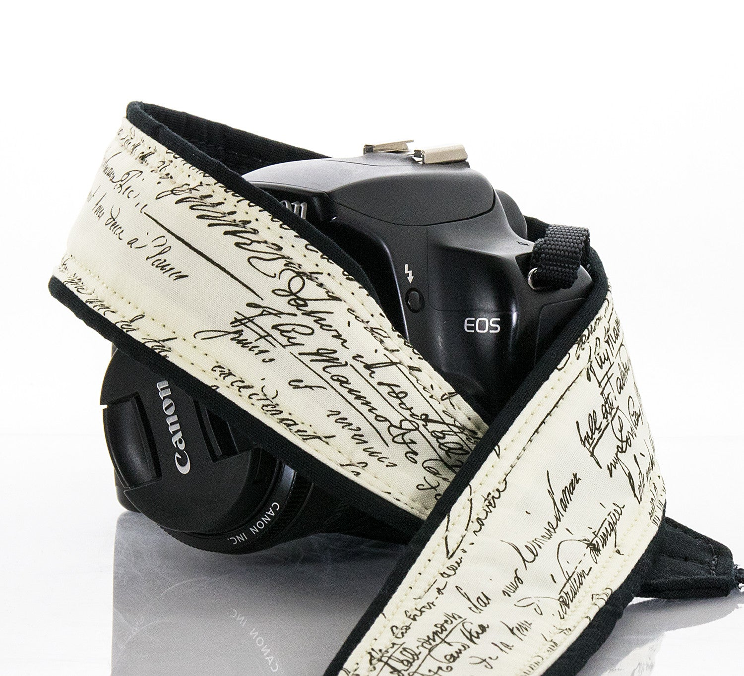 Old Script Camera Strap, dSLR, SLR or Mirrorless - ten8e Camera Straps