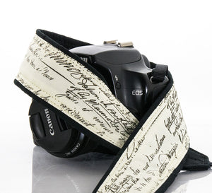 267 Old Script Camera Strap, dSLR, SLR or Mirrorless - ten8e Camera Straps