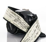 267  Old Script Camera Strap, dSLR, SLR or Mirrorless - ten8e Camera Straps - 1
