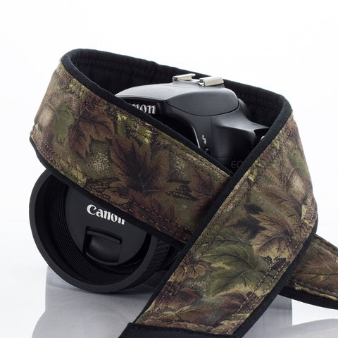 016 Camo Leaves Camera Strap - ten8e Camera Straps - 1