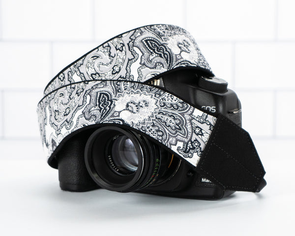 303 Paisley B&W Camera Strap - ten8e Camera Straps