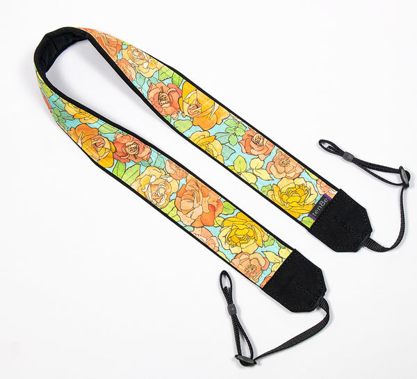 Deco Flowers Camera Strap dslr, slr - ten8e Camera Straps