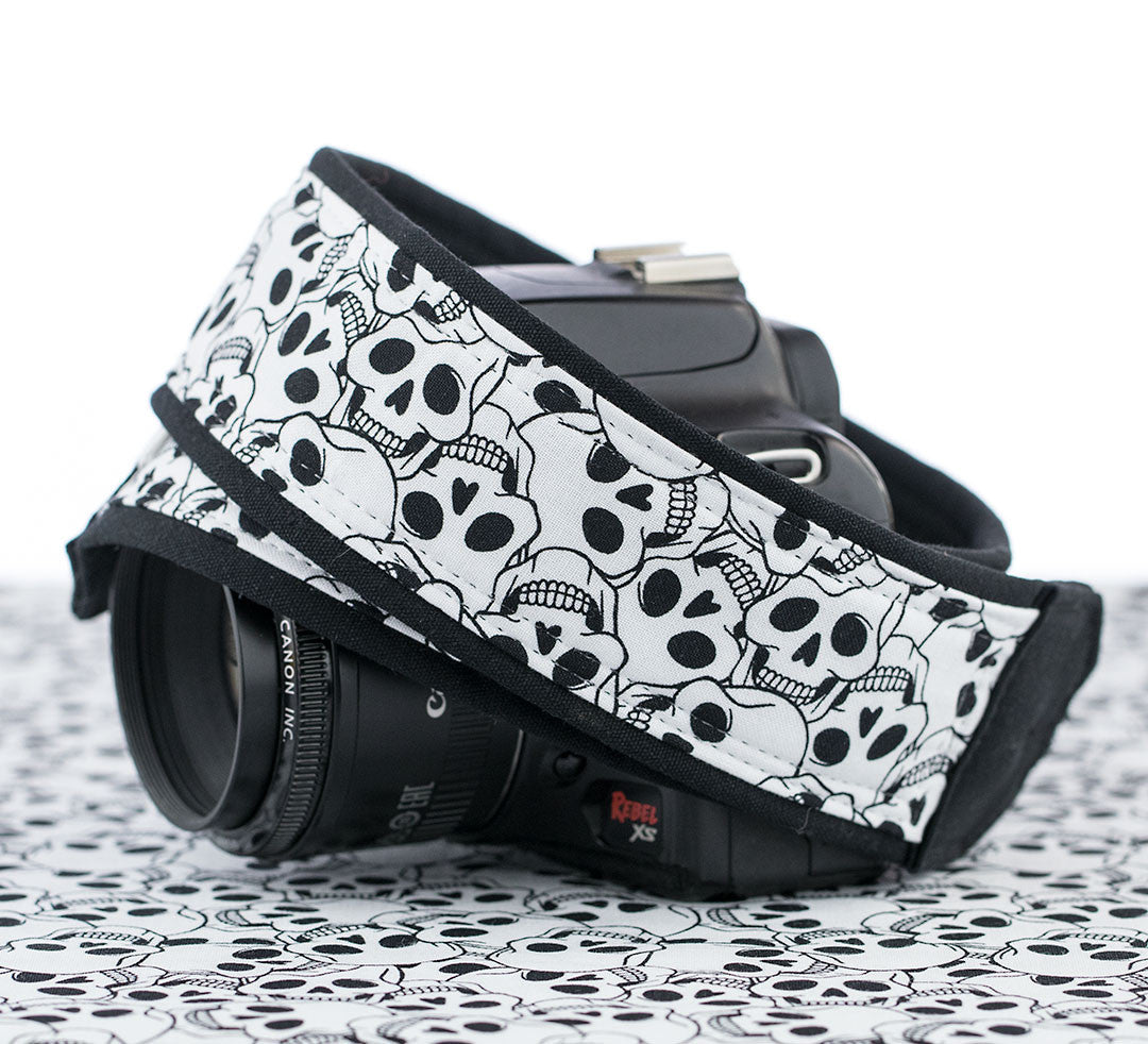 113 Camera Strap Skulls dslr, slr, mirrorless - ten8e Camera Straps
