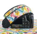 153 Camera Strap Colorful Feathers