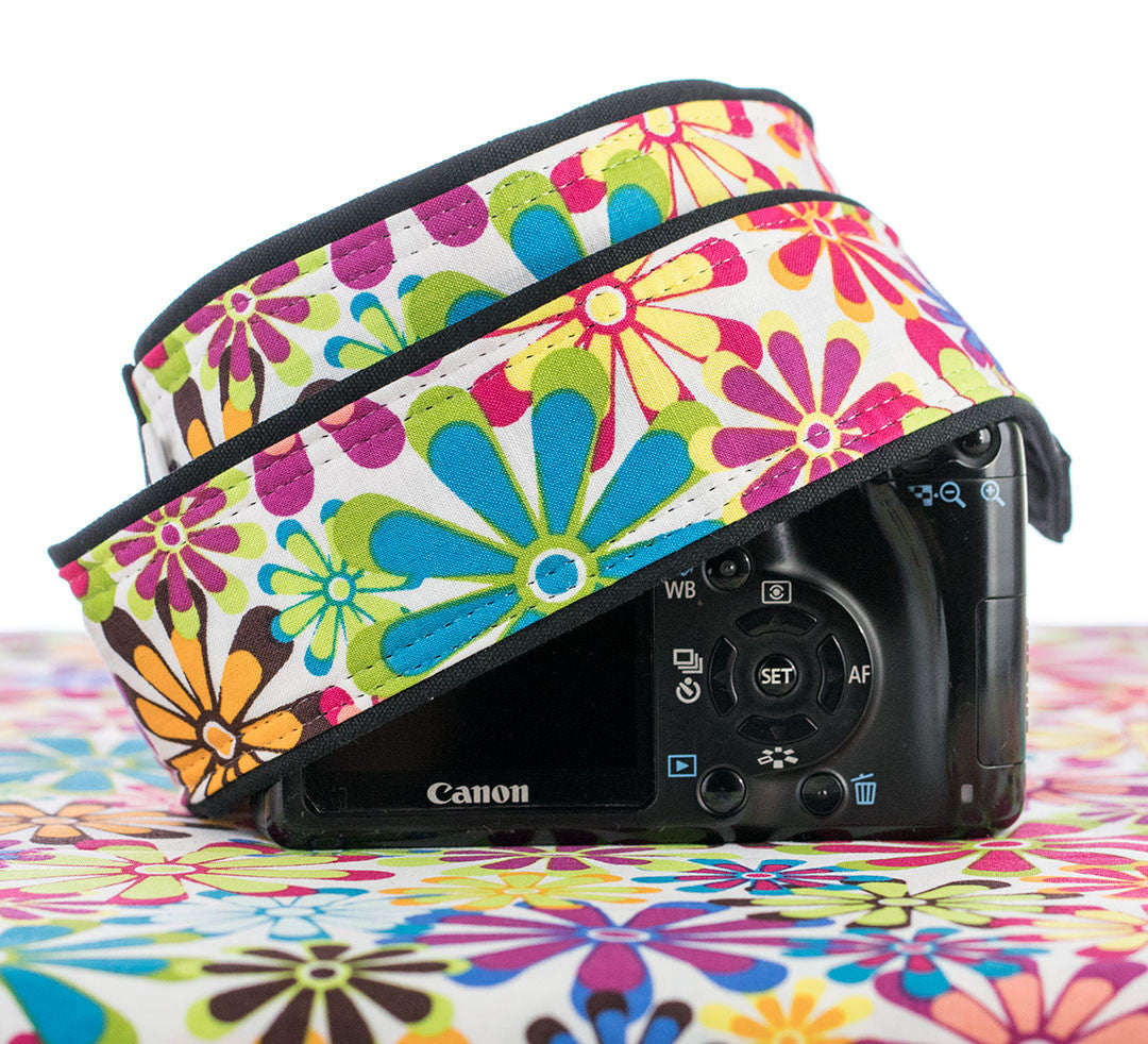 Flower Power Floral Camera Strap - ten8e Camera Straps