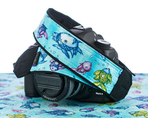 297 Camera Strap Cute Fish - ten8e Camera Straps