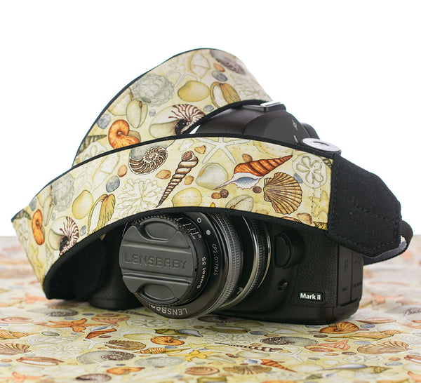 293 Seashells Camera Strap - ten8e Camera Straps