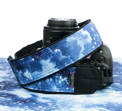 camera strap galaxy clouds