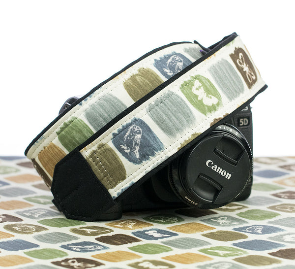 306 Camera Strap Nature Sketchbook - ten8e Camera Straps