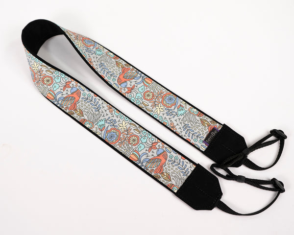 Folk Art Birds Camera Strap - ten8e Camera Straps
