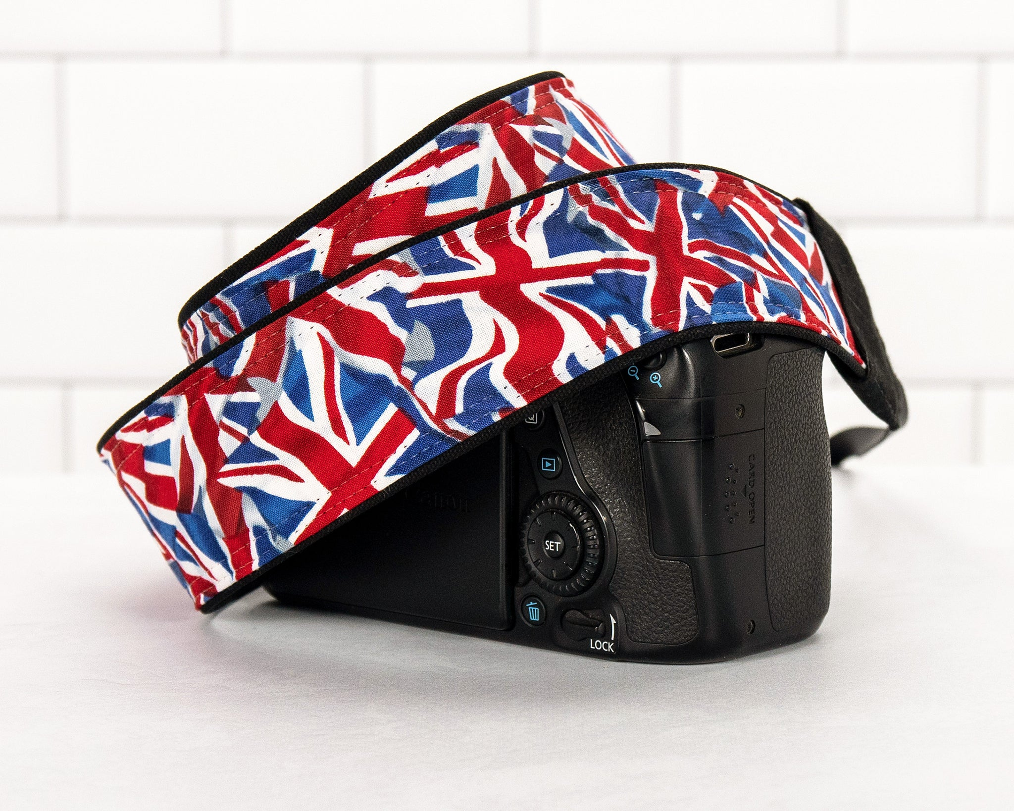 273 Union Jack Flag Camera Strap - ten8e Camera Straps