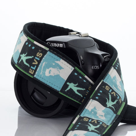 180 Blue Elvis Camera Strap - ten8e Camera Straps - 1