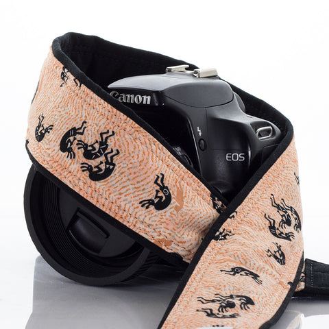 076 Camera Strap Peach Kokopelli dSLR - ten8e Camera Straps - 1