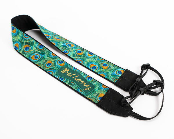 037 Peacock Feathers Camera Strap - ten8e Camera Straps