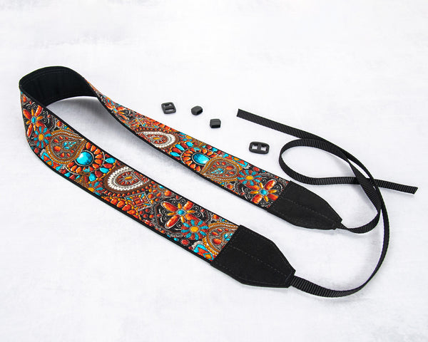 209 Camera Strap Southwestern Faux Beaded - ten8e Camera Straps