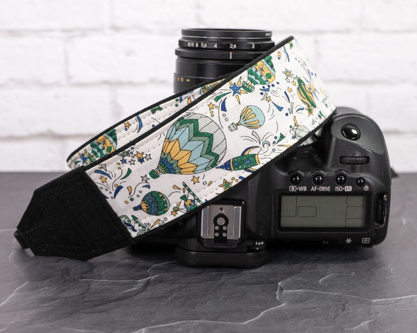 361 Steampunk Balloons Camera Strap - ten8e Camera Straps